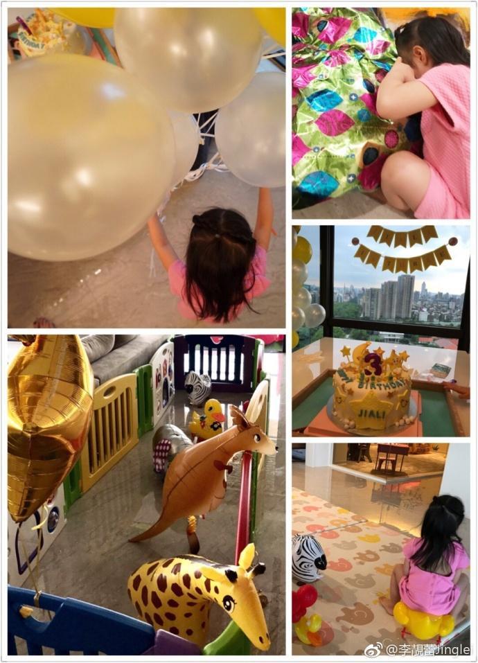 王力宏夫妇为3岁大女儿庆生一家四口温情满满