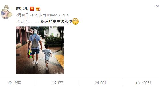 陈小春牵着儿子背影好有爱应采儿一句话道破玄机