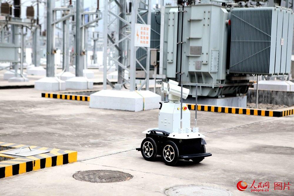 """2月8日下午,西成高铁全线首个智能巡检机器人""""成成""""正在对春运期间剑门关变电所供电设备进行标准化巡视。"""