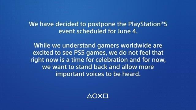 索尼宣布PS5游戏网络发布会延期 新日期尚未确定