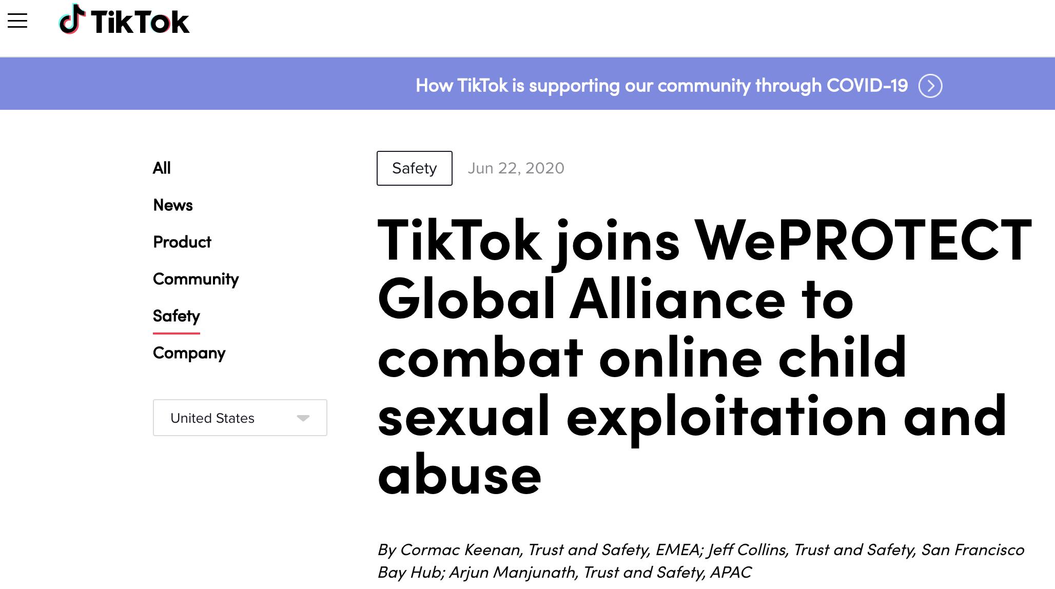 TikTok加入WePROTECT全球联盟保护未成年人线上安全