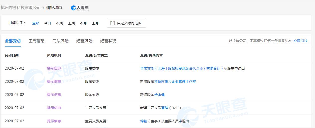 网红李子柒经纪公司发生工商变更 芒果文创基金关联公司退出投资人行列