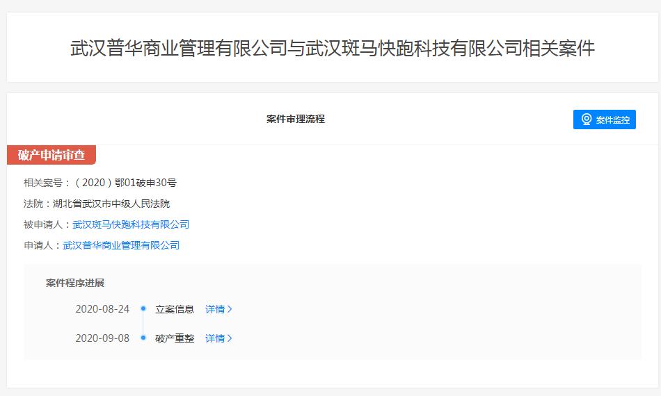 斑马快跑破产重整申请获法院受理 创始人李佳已被依法限制高消费