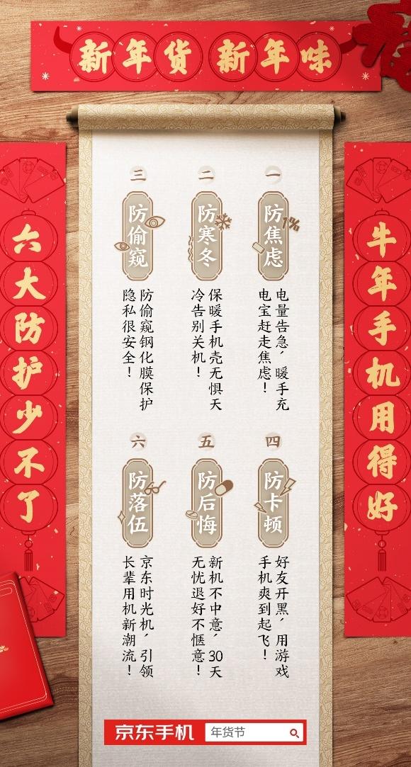 京东首发春节用机指南 六点揭示牛年手机消费新趋势