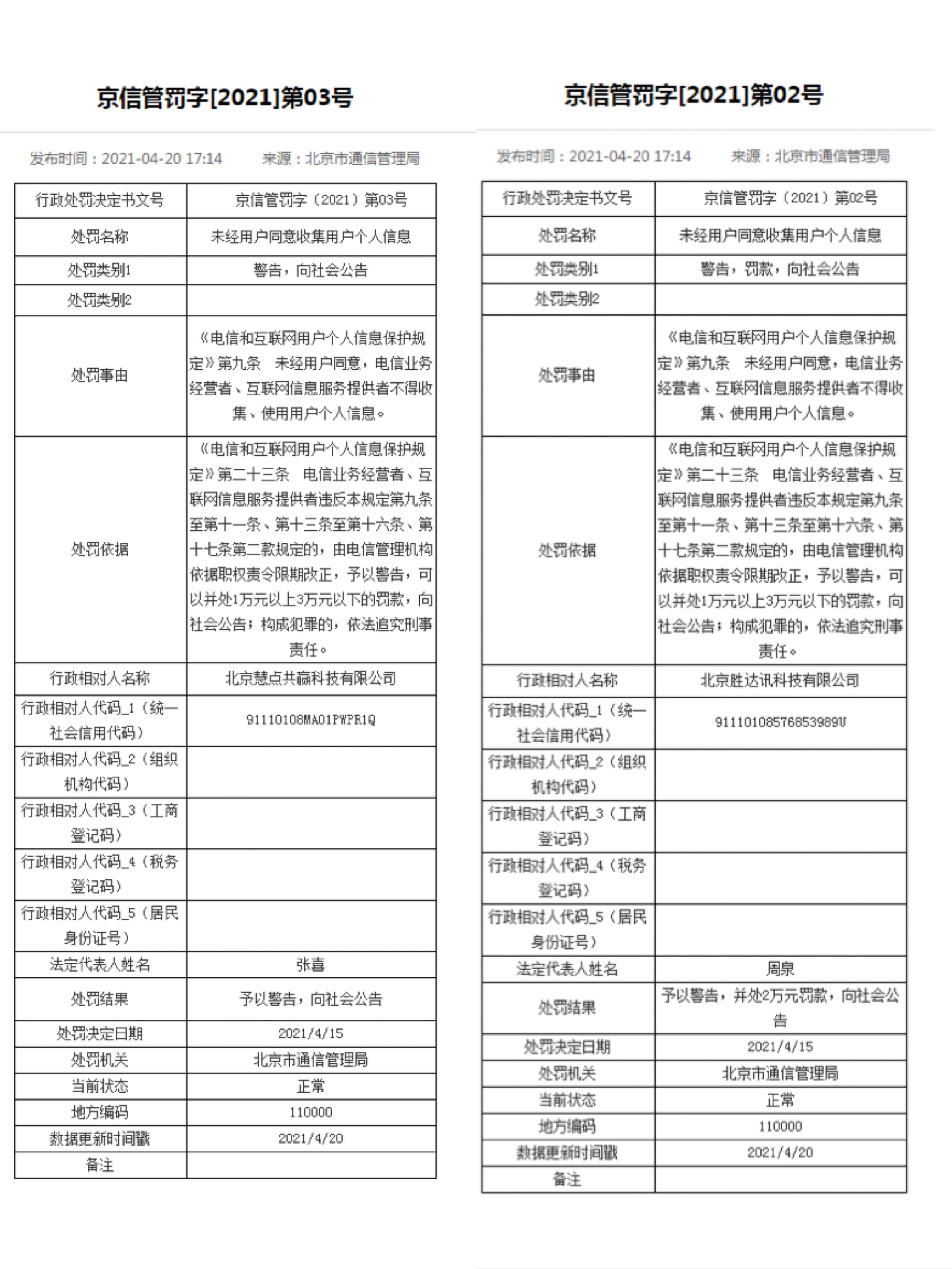 """北京处罚""""3·15""""曝光APP:智能清理大师被罚款2万元"""