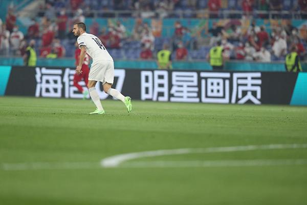 """海信电视U7再度""""亮相""""欧洲杯赛场"""