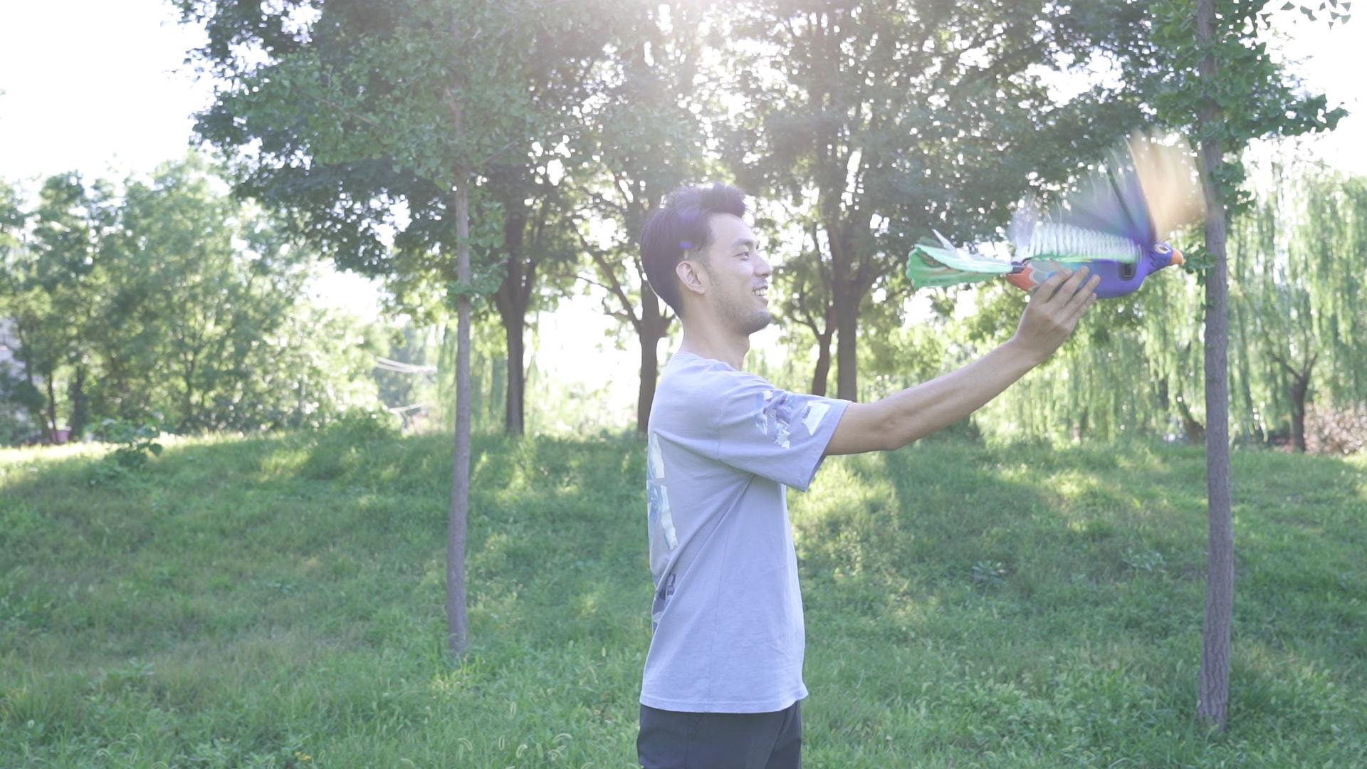 """""""汉王科技新款仿生机器鸟Go Go Bird上市未来会增加GPS导航与视频回传功能"""