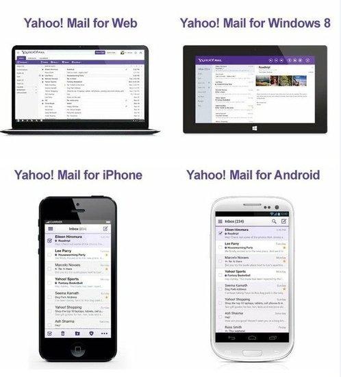 雅虎全面改版电邮服务:登陆三大移动平台