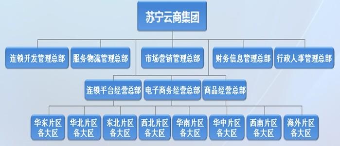 苏宁组织架构示意图