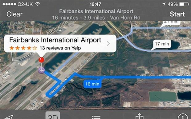 据英国媒体9月26日消息,由于苹果公司地图应用软件(Apples Maps app)的一个错误,美国阿拉斯加一个机场不得不关闭它的一条飞机通道。  资料图   阿拉斯加费尔班克斯国际机场(Fairbanks International Airport)称,在过去三个星期里,有两名汽车司机顺着飞机的滑行道驾驶并横过跑道,万幸的事,没有任何人因这一错误受伤。   该跑道是波音737飞机使用的跑道之一。苹果的地图软件指引司机沿着滑行道开,但并没有明确说要驶上跑道。   费尔班克斯国际机场称,已通过当地总