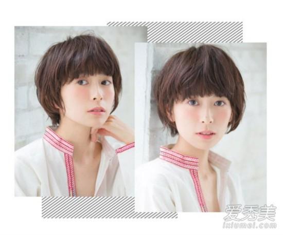 短发发型图片 不规则的齐刘海不仅能遮住额头修颜